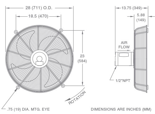 Fan Model F24 Drawing